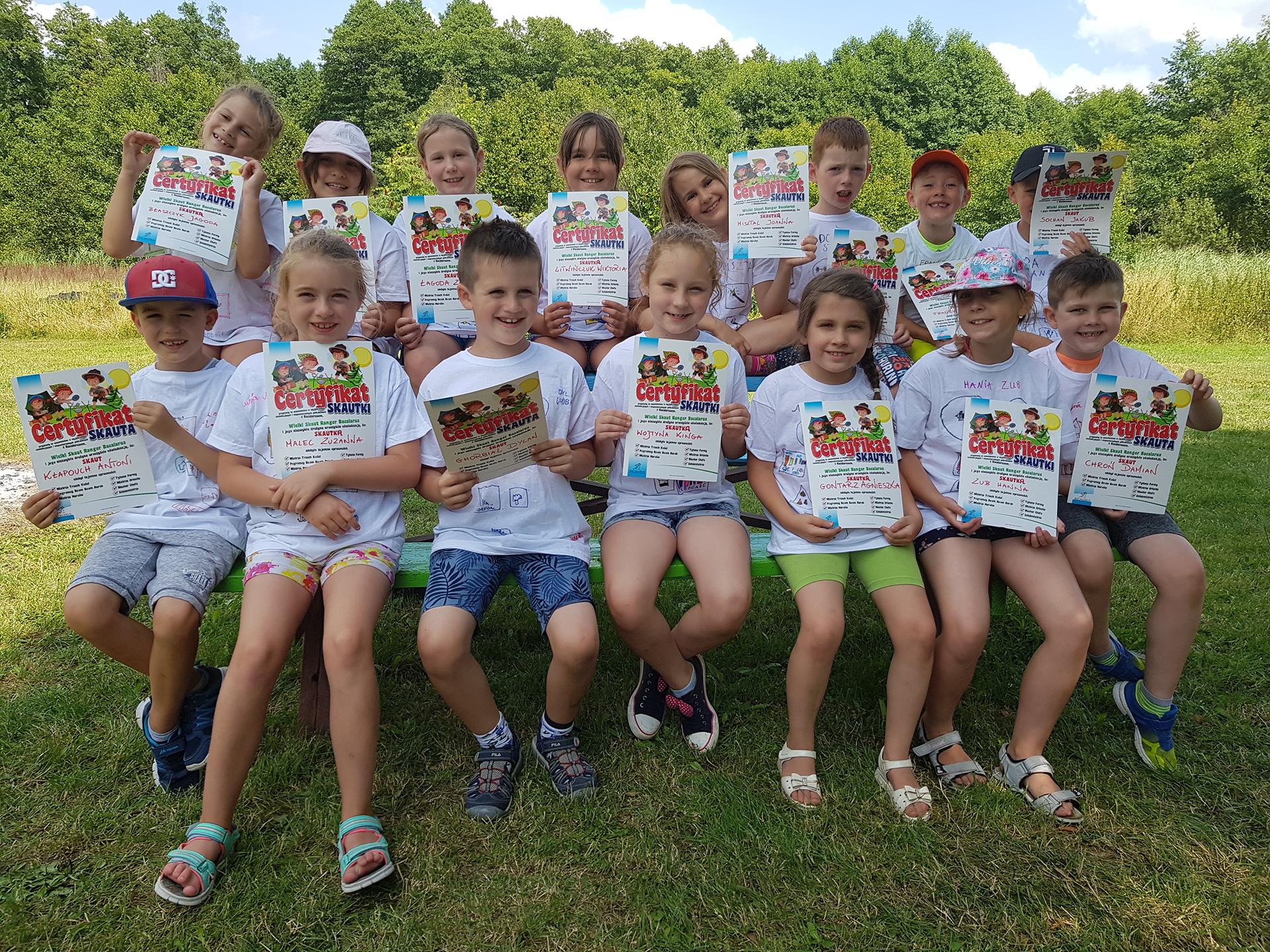 Dzieci na półkolonii językowej szkoły Bacalarus w Zamościu