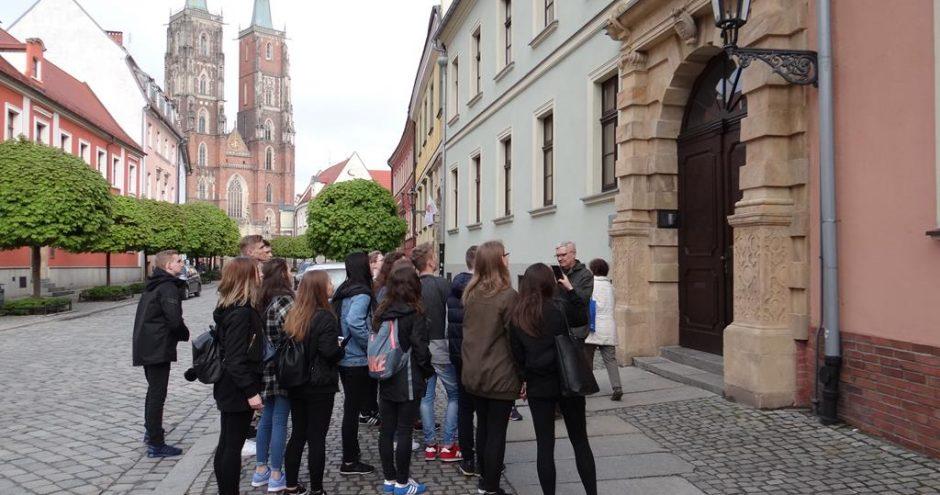 zwiedzanie Wrocławia przez licealistów z Zamościa