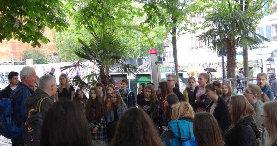 wycieczka uczniów z wymiany do Europa Park w Niemczech