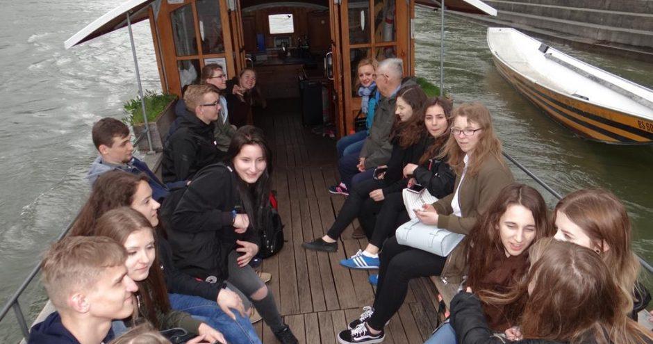 uczniowie z wymiany polsko niemieckiej - przejażdżka łodzią