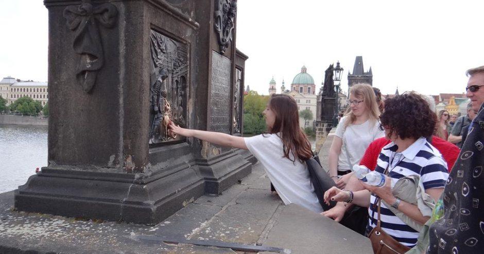 zwiedzanie miasta przez uczniów z wymiany Bacalarus